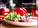 PowerPoint Template - food still life on the table in restaurant