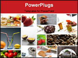 PowerPoint Template - Gourmet food collage from a restaurant. Variety of luxury food.