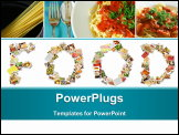 PowerPoint Template - Food Menu Collage in Letters of Alphabet