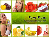 PowerPoint Template - A healthy lifestyle concept. Diet and fitness