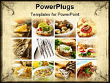 PowerPoint Template - healthy breakfast collage made from nine photographs
