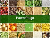 PowerPoint Template - Food collage including pictures of vegetables fruit pasta