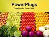 PowerPoint Template - piles of fruits and vegetables at the store