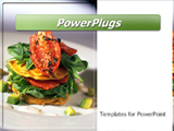 PowerPoint Template - Vegetable stack entree