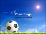PowerPoint Template - ball against blue sky; space for copy
