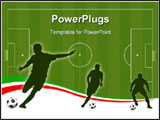 PowerPoint Template - Wallpaper background with man silhouettes playing soccer