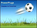PowerPoint Template - a soccer ball on a ground