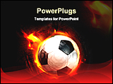 PowerPoint Template - soccer ball through flames