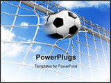 PowerPoint Template - goooooal! Ball hitting the net