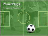 PowerPoint Template - Young Kids Playing Soccer