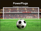 PowerPoint Template - Football - penalty in the stadium 3d illustration