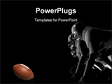 PowerPoint Template - Football players ready to charge forward