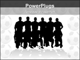 PowerPoint Template - soccer team silhouette - illustration!