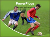 PowerPoint Template - soccer players in the field
