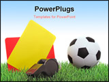 PowerPoint Template - Typical utensils of a referee for a soccer match.