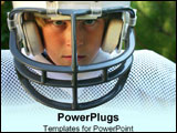 PowerPoint Template - Young man in football gear.
