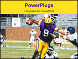 PowerPoint Template - merican football played by young men player running with ball ** Note: Slight blurriness, best at s