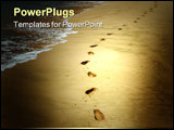 PowerPoint Template - Footprints in the sand