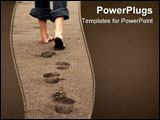 PowerPoint Template - footprints