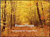 PowerPoint Template - fall in forest