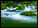 PowerPoint Template - Forest stream running over mossy rocks