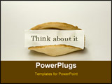 PowerPoint Template - A fortune cookie with the words think about it. See my gallery for more.