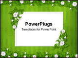 PowerPoint Template - Grunge paper in scrapbooking style with bunch of flowers