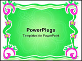 PowerPoint Template - Here is a colorful frame of Spirals, Hearts, Flowers, and Ribbons.