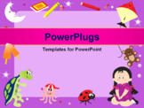 PowerPoint Template - abstract frame with toys, illustration