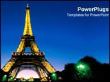 PowerPoint Template - Eiffel tower in France.