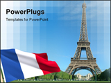 PowerPoint Template - the eiffel tower in paris