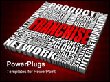 PowerPoint Template - Group of business related words. Part of a series of business concepts.