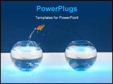 PowerPoint Template - goldfish jumps from one bowl to another