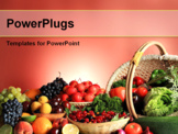 PowerPoint Template - Fresh Vegetables, Fruits and other foodstuffs. Huge collection