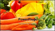 PowerPoint Template - Fresh vegetables