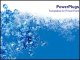 PowerPoint Template - Blue icicles on frosty background.