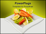 PowerPoint Template - Summer fruit salad on a square dish