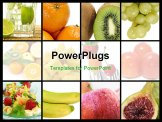 PowerPoint Template - a collage of nine pictures of different fruits