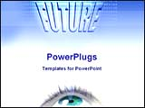 PowerPoint Template - image of future eye