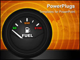 PowerPoint Template - fuel gauge with money amounts