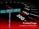 PowerPoint Template - A speedometer showing a vehicle