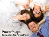 PowerPoint Template - Team of workers having a good time.