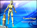 PowerPoint Template - future of housework by robot