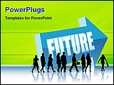 PowerPoint Template - illustrated image of future in business