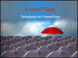 PowerPoint Template - red umbrella above the rest