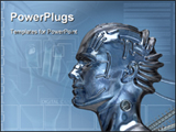 PowerPoint Template - Future detail With mechanical robot head.