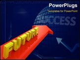 PowerPoint Template - Word Future on red arrow forward direction