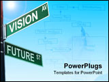 PowerPoint Template - Business slogans on a road and street signs sign exit