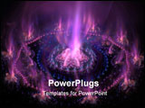PowerPoint Template - Futuristic purple with blue burning energy. High detailed rendered artwork