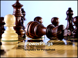 PowerPoint Template - A game of chess comes to an end